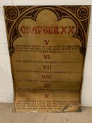 """A metal sign of the last Five of the Ten commandments titled """"Chapter XX"""" (90cm x 130cm)"""" from the"""