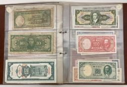 An Album of Banknotes from around the world