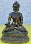 A 19th Century Buddha with mark to base (25cm x 22cm)