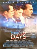 'Thirteen Days' with Kevin Costner Australian movie poster