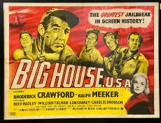 Big House Movie Poster with Broderick Crawford and Charles Bronson