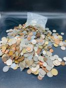 A large quantity of foreign coins