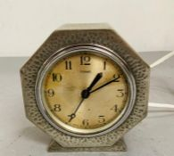 A pewter Ferrant clock