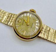 A Ladies 9ct gold Rolex precision