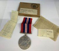 A British War Medal in original box