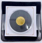 A Jubilee Mint Tristan da Cunha 9 carat gold 1 g coin