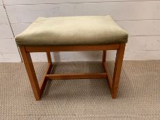 A G-Plan 19060's footstool with Darion seat pad (H38cm W40cm)