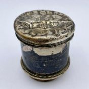 A Silver napkin ring, pot lid and egg cup (79g)
