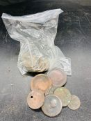 A quantity of bun pennies, worn but clear dates and older worn Georgian coins