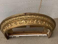 A gilt frame Demi Lume curtain frame