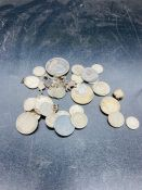 A quantity silver coins mainly scrap and worn
