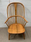 A blonde Ercol chairmakers chair