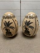 A pair of decorative china objects (H34cm)