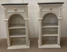 A pair of open cabinets AF (H106cm W58cm D30cm)