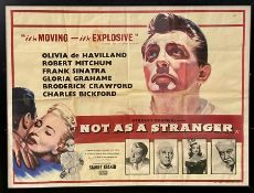 Not as A Stranger Movie poster with Robert Mitchum and Frank Sinatra