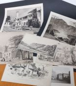 A group of 7 prints