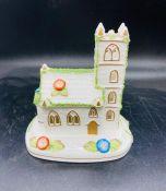 A Coalport church model