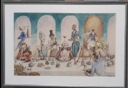 A satirical cartoon signed 'PB Hepburn' and dated 1959 with stamp lower right, ink and