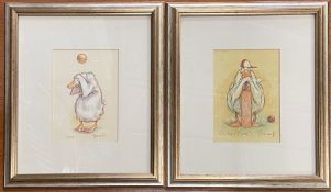 Two Duck and cricket themed prints by Minter Kemp