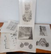 A group of prints gothic themes