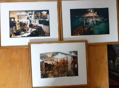 """A group of three """"photographs"""" from the production of James Cameron's TITANIC, from the personal"""