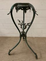A patinated brass Jardinière stand (H75cm)