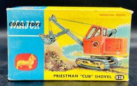"Corgi Toys diecast in original box Priestman ""Cub"" Shovel 1128"