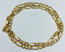 A 9ct gold necklace (Total Weight 13g)