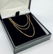 A Selection of three 9ct gold necklaces (Total Weight 5.9g)
