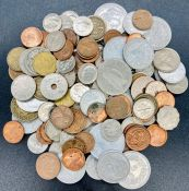 A small selection of coins various denominations, years and countries