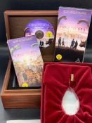 """A """"Dinotopia"""" collectors/ press box including two VHS and press DVD movie memorial"""