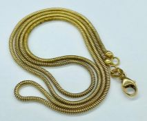 An 18ct gold necklace (Total Weight 5.5g)