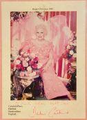 1988 signed Christmas card from Barbara Cartland.