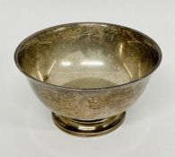 A Sterling silver bowl (91g)
