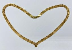 A 9ct gold necklace (Total Weight 7.9g)