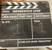 A 'Dangerous Love' movie clapperboard from the estate of Keith Wilson Production Designer and Art