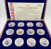 A Boxed set of Windsor Mint British Military Aircraft with supporting certificate and book.