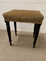An ebonised stool (H52cm W42cm D32cm)