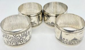 A Set of four silver napkin rings (Total Weight 91g)