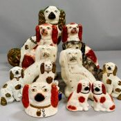 A selection of Staffordshire dogs