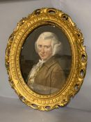 Attributed to James Gabriel Huquier (1725–1805) French, 'Portrait of a of a gentleman', signed,
