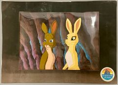 A Film cell from Watership Down, with Stephen Gateley's character.