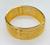 An Indian decorative Gold Bracelet (Total weight 49.3g)
