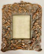 A bronze frame