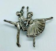 A vintage sterling silver Ballerina brooch by DHP Massingham
