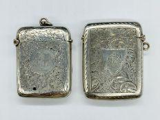 Two hallmarked silver vesta cases