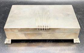 A silver cigarette box, Birmingham 1953 Charles S Green and Co Ltd