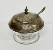 A Sterling silver and glass cruet by Frank Whiting.