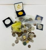 A selection of various coins