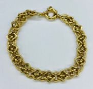 A 9ct (Marked 375) gold bracelet Total Weight 5.6g